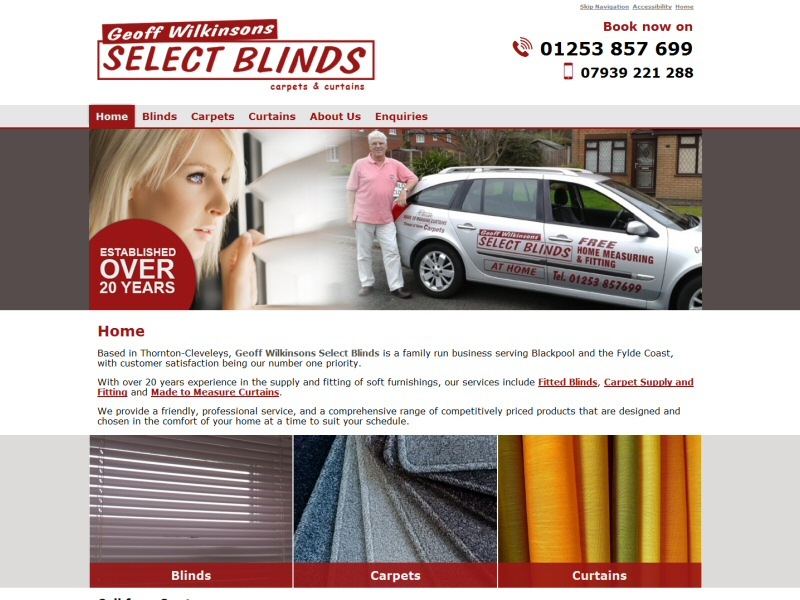 Web design for local business based in Thornton, serving Blackpool and the Fylde Coast